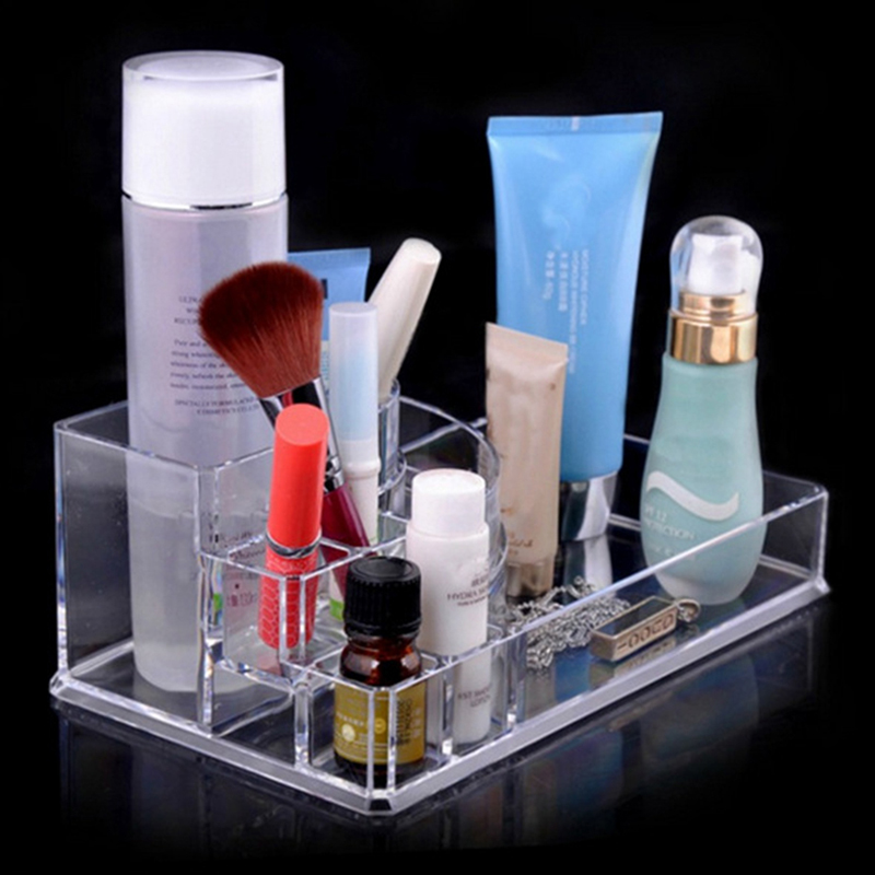 Clear Acrylic Cosmetic Organizer Makeup Case Holder Display Stand Sge Box, Storage Box Organizer, Box Organizertora for Cosmetic(China (Mainland))