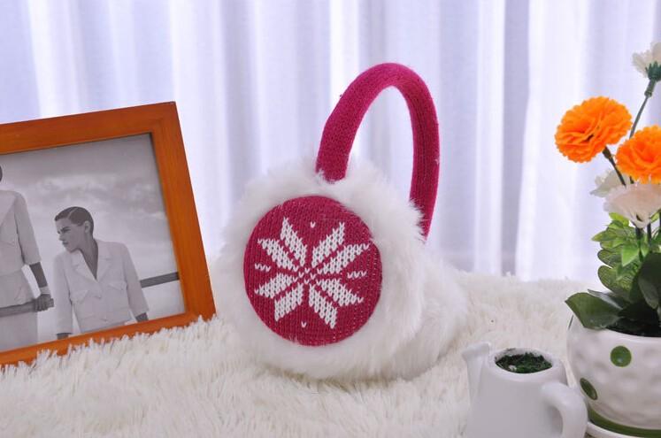 Меховые наушники Happy girl  Snowflake