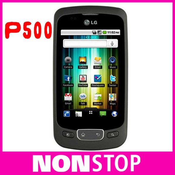 P500 Original LG P500 WIFI GPS JAVA Android OS 3.12MP Unlocked Mobile Phone(China (Mainland))