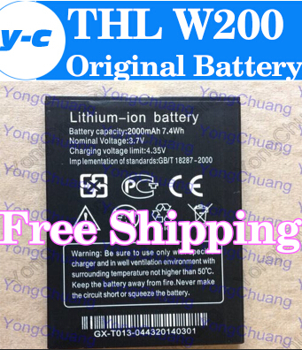 THL w200 Battery 100% New Original 2000mAh Lithium-ion Battery for THL W200 w200s W200C Smart Mobile Phone -In Stock+Track Code