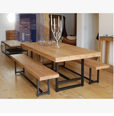Of Simple Modern Rectangular Oak Table And Dining