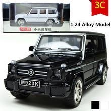 Mercedes G55 автомобиль модель, 1:24 весы сплав задерживать автомобили, Литье под давлением внедорожник, Мигающий мальчик, Девочки игрушки