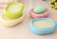 Portable Double-deck Soap Boxes Equipped with Bibulous Sponge ABS Kitchen Bathroom Accessories Toilet Soap Box Travel Soap Box