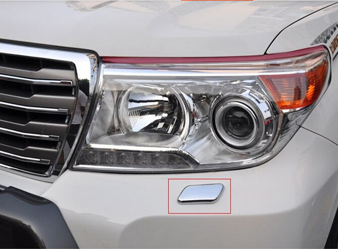 ABS Chrome Head Light Spray Cover FOR Toyota Land Cruiser LC/FJ200 2012-2014(China (Mainland))