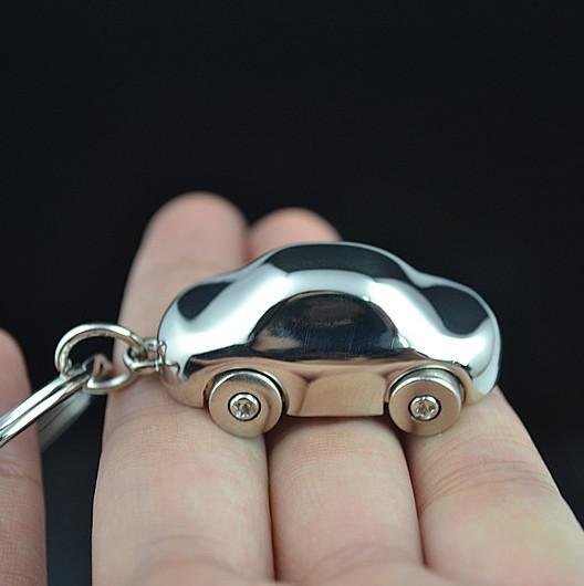 Quality solid four wheel car keychain key chain gift logo