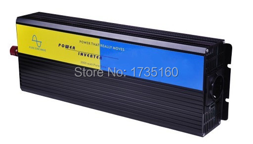To Australia Power Inverter 2000W pure sine wave inverter for solar DC to AC inverter 2KW(China (Mainland))