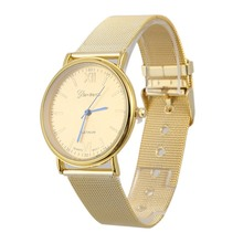 New Gold Silver Luxury Stainless Steel Watch Analog Quartz Watches Women Men Business Watch Relogios Femininos