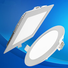 Ultra thin 3W 4W 6W 9W 12W 15W 18W 24W LED Ceiling Recessed Lamp Downlight/Slim Round Square Flat Panel Light Warm /Cool White - ShenZhen Double Flying Fish international trading co., LTD store