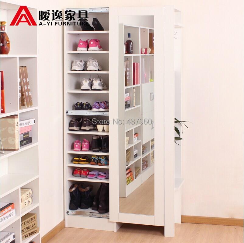Achetez en gros miroir armoire chaussures en ligne des for Rangement chaussures et manteaux