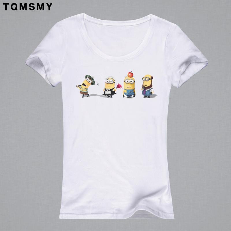 Harajuku casual t-shirt Women 3D printing clothing tee shirt cartoon tops soft quality Print Short Sleeve Women T Shirt minions(China (Mainland))