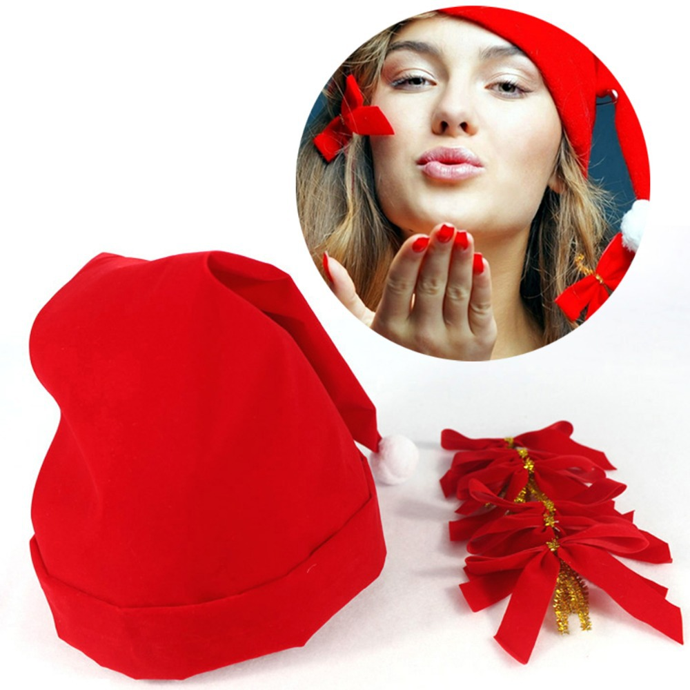 Hot Selling Happy Merry Chirstmas Decoration Chirstmas Gift Chirstmas Hat with Six Little Butterfly Flower(China (Mainland))