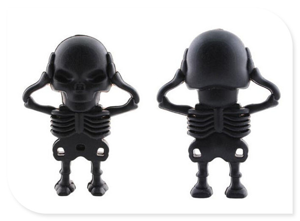 Cranial skeleton head USB 2.0 USB Flash Drive thumb pendrive u disk usb creativo memory stick 4GB 8GB 16GB 32GB 64GB S320(China (Mainland))