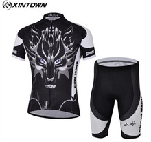 Buy XINTOWN Bicycle Sport Wear Mountain Bike Clothing Set Cheji Ghost Wolf Dragon Maillot Cycling Cycling Jersey 2014 Men for $27.56 in AliExpress store