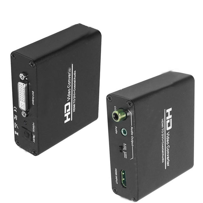 1pcs Good Selling AU Plug DC 5V HDMI to DVI Coaxial 3.5MM Audio Converter Adaptor Box For PS3 Xbox360 DVD(China (Mainland))