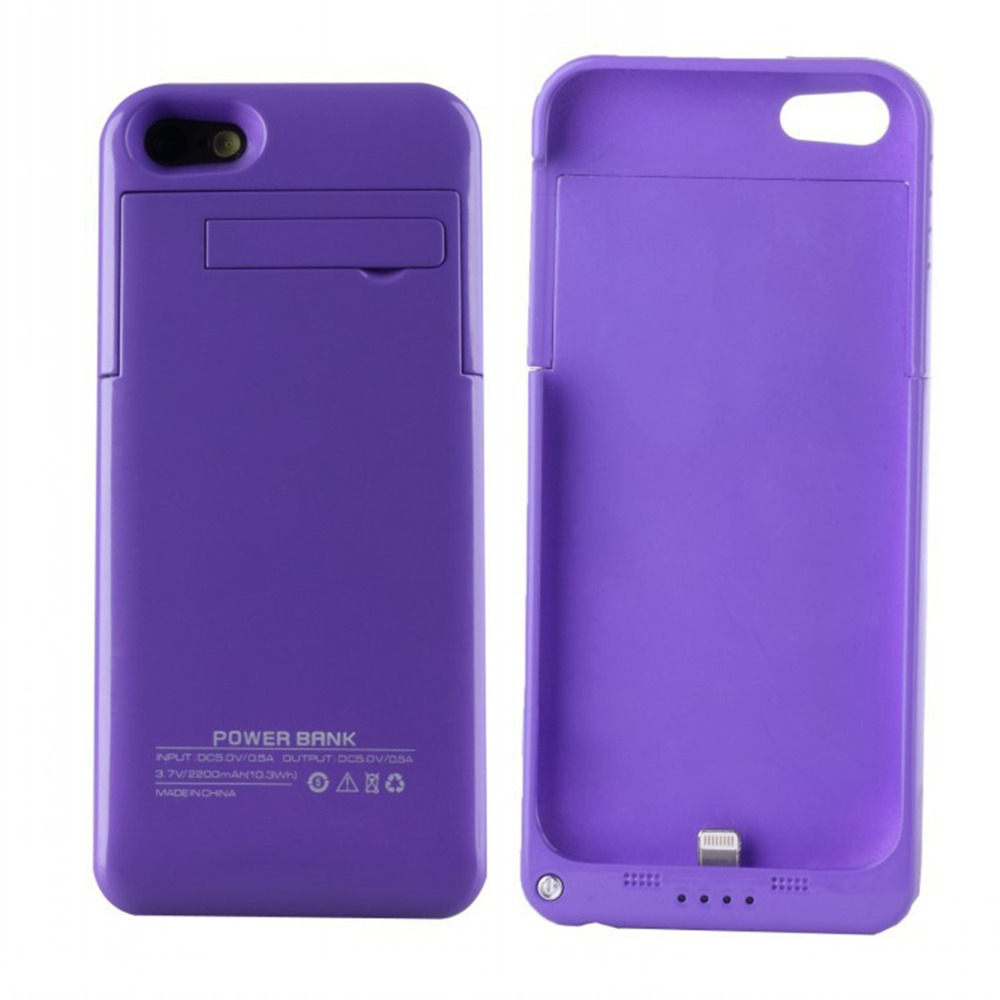 Purple color 2200mAh power bank charger For Iphone 5 5s(China (Mainland))