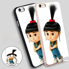 Buy Despicable 2 Agnes Phone Ring Holder Soft TPU Silicone Case Cover iPhone 4 4S 5C 5 SE 5S 6 6S 7 Plus for $2.99 in AliExpress store