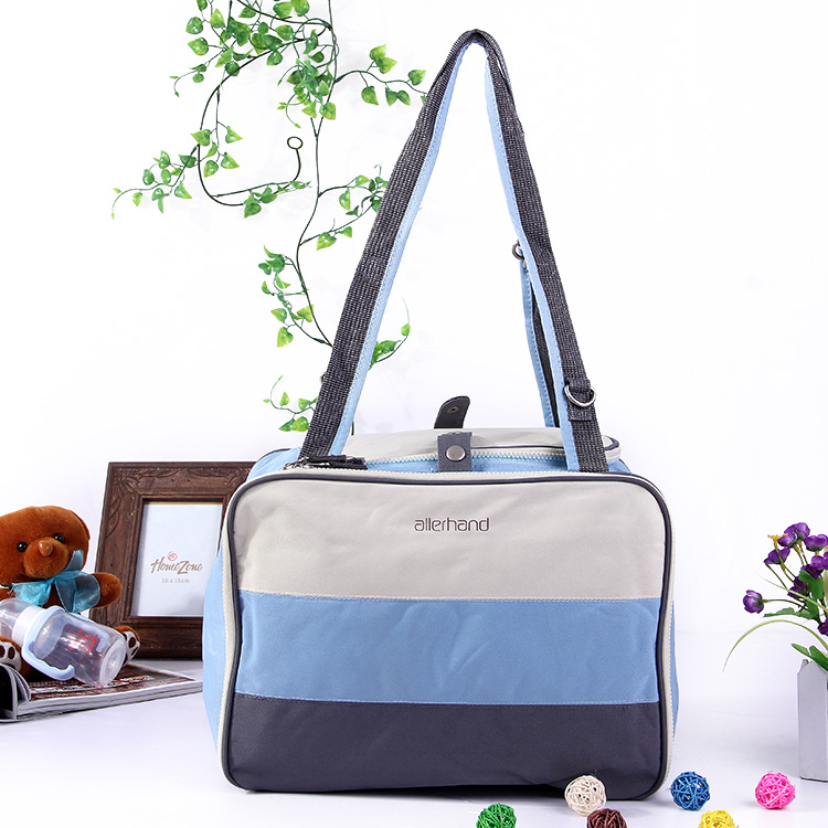 2016 Sale Hot Color Stripe Fashion Oxford Cloth Mummy Bag Shoulder Diagonal Cross Compartment Large Capacity Square Baby Diaper(China (Mainland))