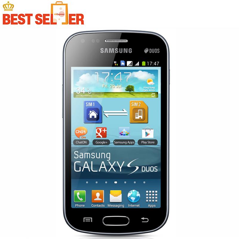 Unlocked Original Samsung Galaxy S duos S7562 Dual sim cards 3G Wifi Bluetooth Gps 4.0'' 5MP Camera Refurbished Mobile phone(China (Mainland))