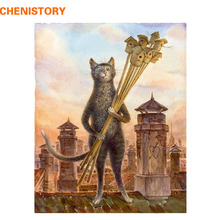 Buy CHENISTORY Picture DIY Painting Numbers Animal Cat Modern handpainted Wall Art Picture Canvas Painting Home Decor 40x50cm for $7.64 in AliExpress store