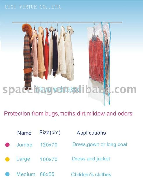 Retail,Virtue,DAY758*45,Vacuum Compressed Hanger Bags,Store Kinds of Clothes
