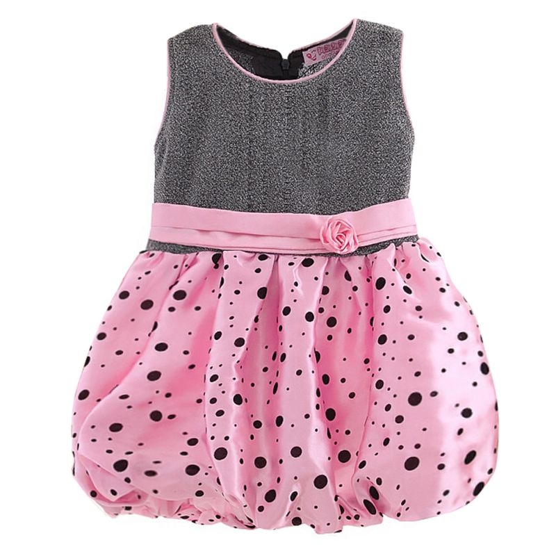 Baby Kid Girls Flower Bubble Dress Princess Polka Dot Wedding Party Prom Dresses<br><br>Aliexpress