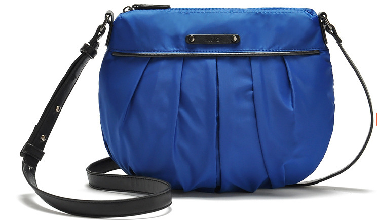 YIWU fashion women canvas pleated shoulder bag blue pleated handbagfor shopping from 30% canvas messenger bags(China (Mainland))