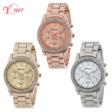 Yoner diamond watch womens Limited Edition Rose Gold Quartz Watch Women Silver Wristwatches Stainless Steel Band orologio uomo