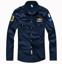 2015 shirt brand air force one men shirt long sleeve male slim fit shirt men dress shirt 4XL camisas hombre  camisa masculina(China (Mainland))
