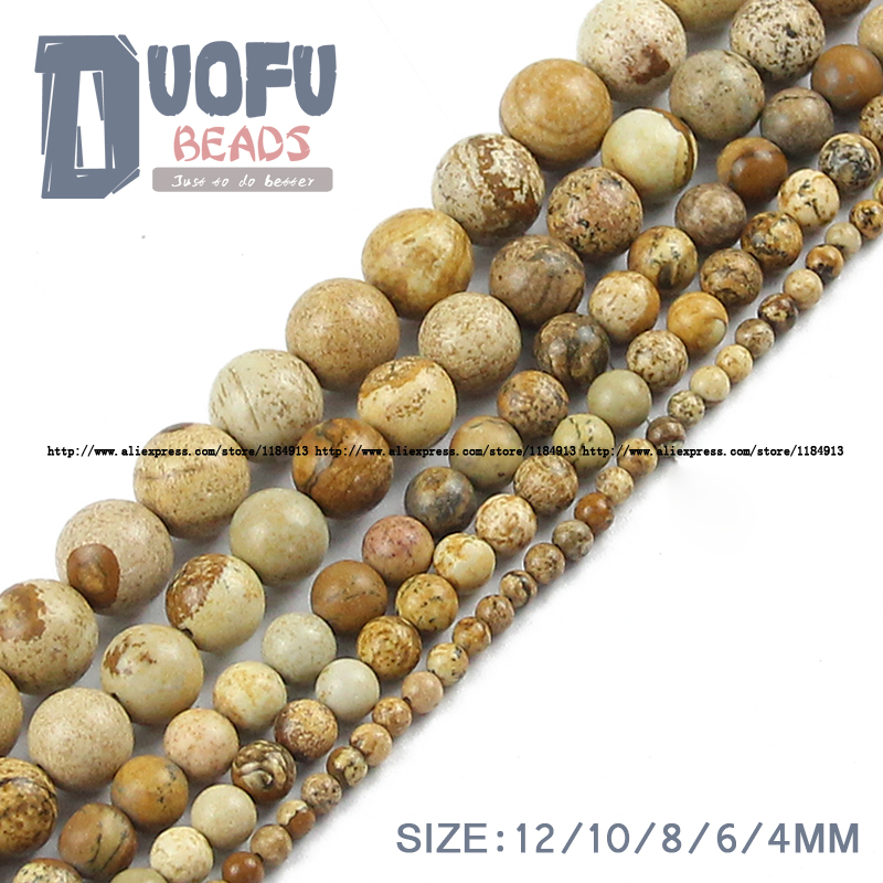 Picture stone beads Natural Stone Top quality Ore Round Loose beads ball 4/6/8/10/12MM handmade Jewelry bracelet making DIY new(China (Mainland))