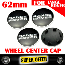 FREE SHIPPING 4 X 62MM BLACK CAR WHEEL CENTER HUB CAPS COVER EMBLEM LOGO BADGE FOR LAND RANGE ROVER Evoque Discovery METAL 231(China (Mainland))