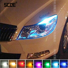 SCOE Car Styling 2x12SMD LED Clearance Light Lamp Source For Skoda Octavia RS Crystal Blue Warm White Red Yellow Green Purple(China (Mainland))