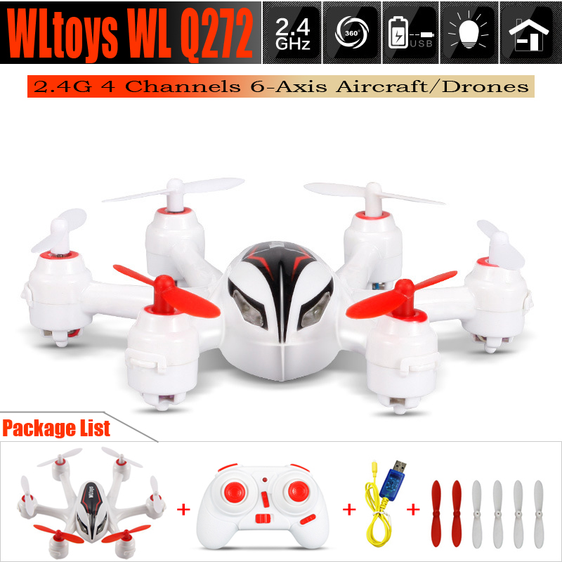 HOT Sale WLtoys Q272 RC 6 Axis Drone 2.4G 4 Channels Remote Control Helicopter Aircraft Quadcopter Hexacopter With LED Light(China (Mainland))