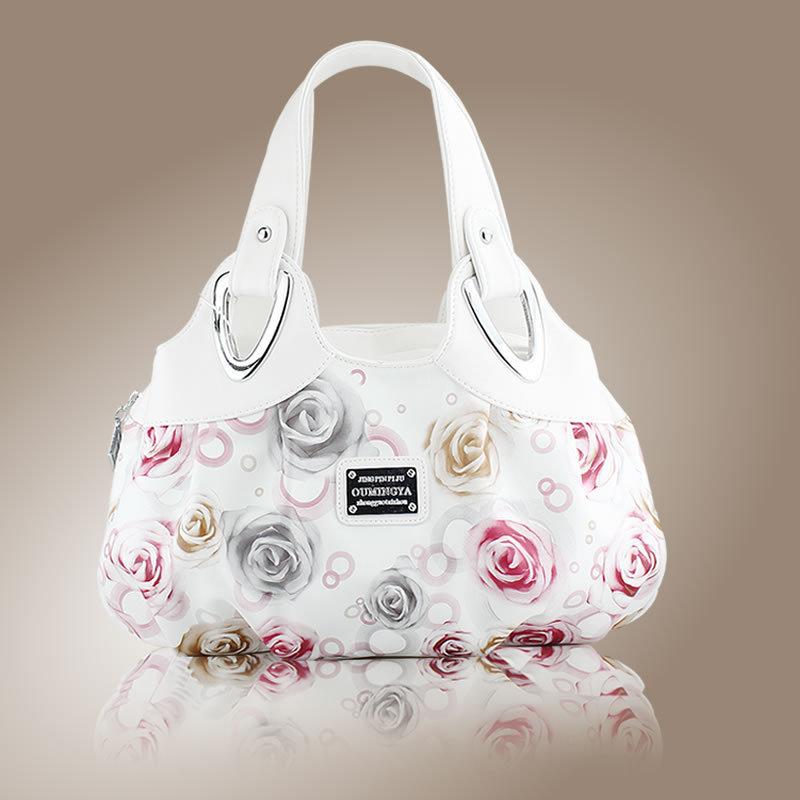 Hot Fashion Korean handbag beautiful Women PU leather Bag Tote Bag Printing Handbags many style Satchel drop WHOLESALES X282(China (Mainland))