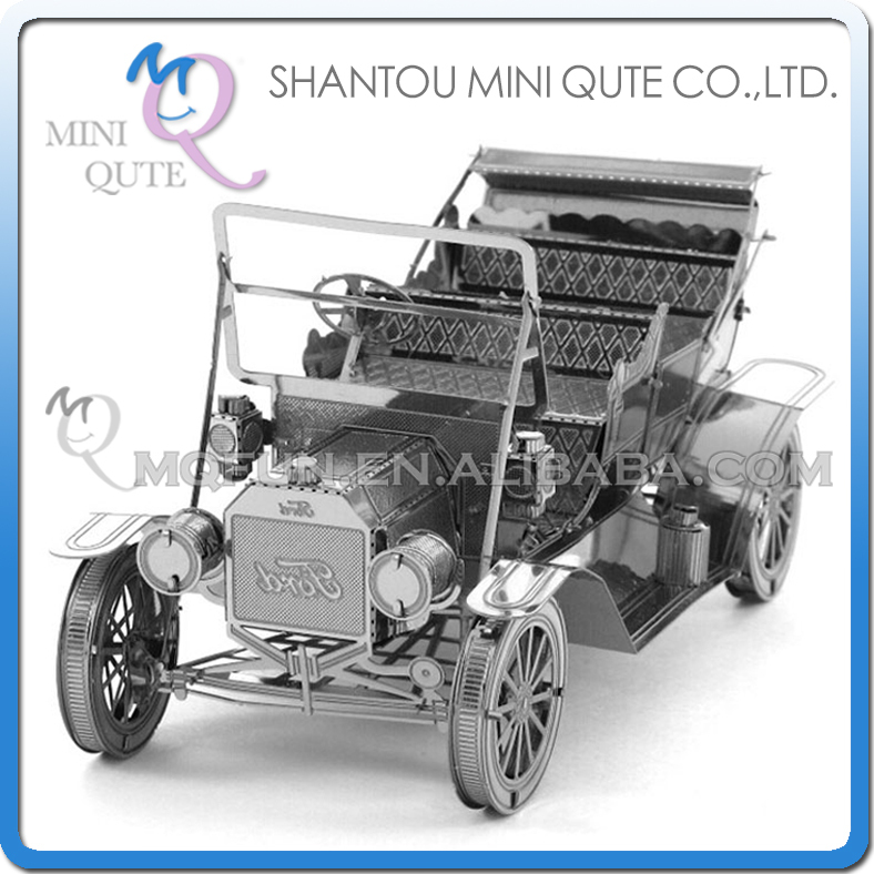 5pcs/lot Mini Qute 3D Metal Puzzle Ford Tin Lizzy Classic car military vehicle Adult kids model educational toys gift NO.ZY208(China (Mainland))