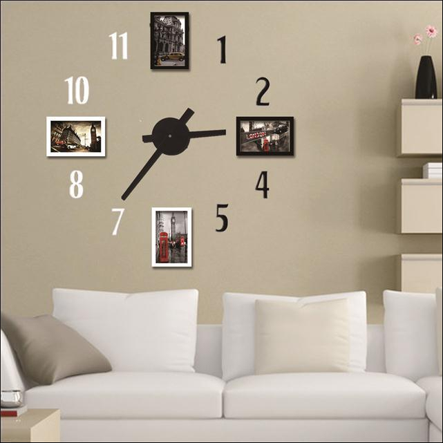 horloge murale moderne design nouvelle dcoration de la maison horloge murale grande horloge. Black Bedroom Furniture Sets. Home Design Ideas
