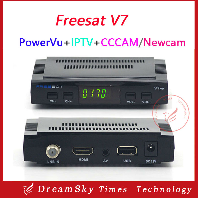 Original Freesat V7 HD DVB-S2 mini satellite tv receiver support BISS Key,Patch,CCCAM,Powervu,Youtube,Usb wifi(China (Mainland))