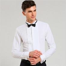 2016 Top Fashion Men Dress Shirt Luxury Brand Hochzeit Langarm formalen Shirt Baumwolle Slim Fit Plus Größe XXL Schwarz Tuxedo Shirts(China (Mainland))