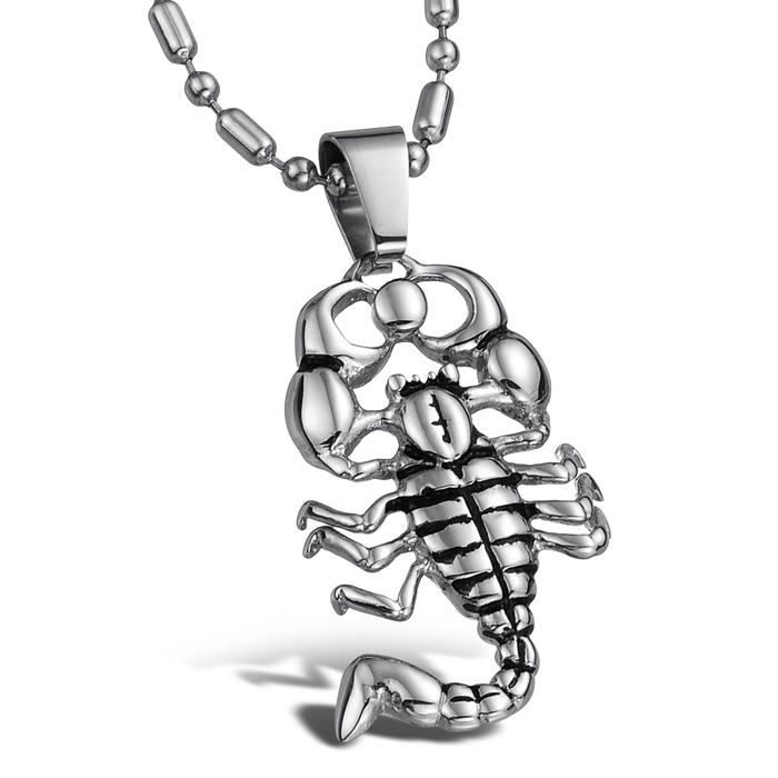 Stainless Steel Pendant Necklace Fashion Jewelry Animal Individual Unique Pendant Necklace Free Shipping(China (Mainland))