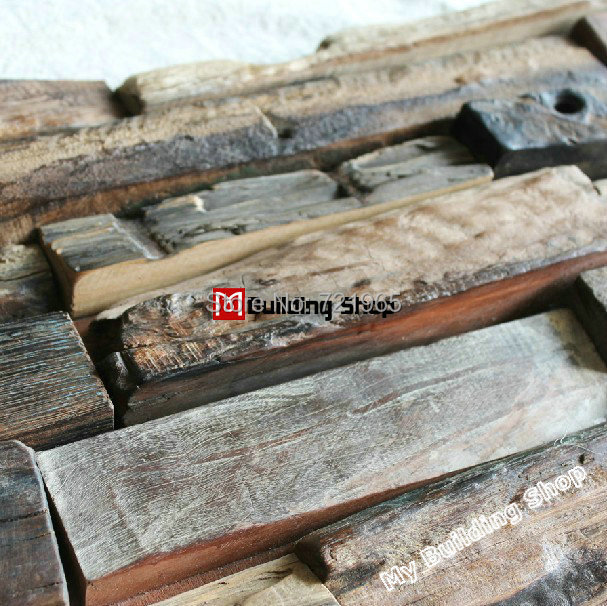Naturholz mosaik fliesen rustikalen holz wandfliesen NWMT014 küche ...