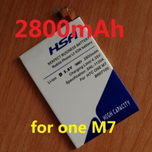 New Arrivals 2800mAh BN07100 Phone Battery Use for HTC ONE M7 802D 802T 802W 801E 801S 801N(China (Mainland))