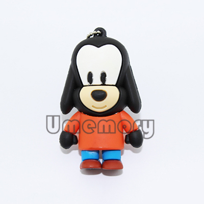 Retail genuine 2G/4G/8G/16G/32G cartoon 3D super cute Love Dog Pen drives usb flash drives memory stick disk Drop Free shipping(China (Mainland))