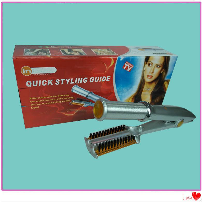 Иностранные горячая автоматическая ролл прямо двойного-использовать щипцы для выпрямитель для волос шину электрический волосы палку