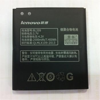 BL209 Genuine Original 2000mAh Replacement Battery for Lenovo A706 A788T A820E A760 A516 A378T A398T Original Battery