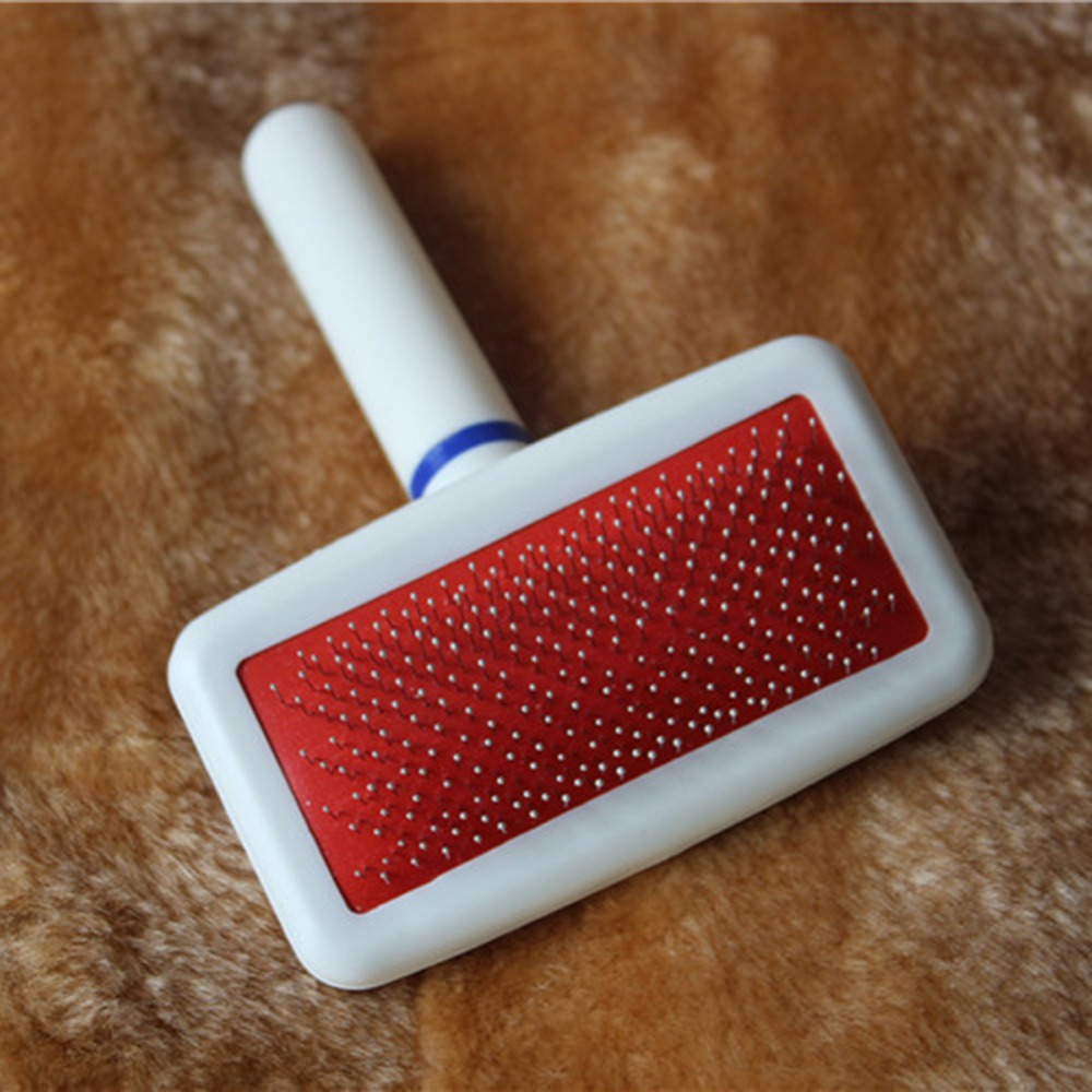 Free Shipping Red Puppy Cat Hair Grooming Slicker Comb Gilling Brush Quick Clean Tool Pet Brand