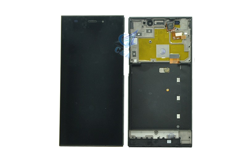 For Xiaomi 3 mi3 m3 LCD display screen with touch digitizer with frame assembly replacement parts black 1 piece free shipping