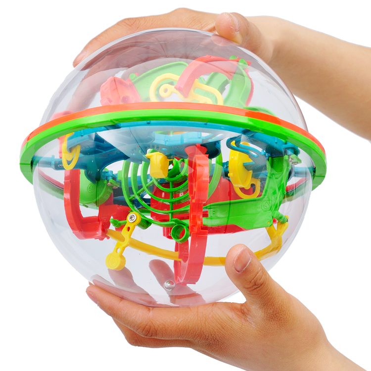 Maze ball 3D Space Puzzle Magnetic Ball Educational Maze Cube Intellect IQ Trainer Game Amazing Balance Toy for Kids 100 Steps(China (Mainland))