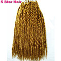 100g Havana Mambo Twist 18 Crochet Braid Hair Synthetic Hair 1 9 pack crochet braid senegalese