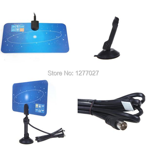 Good Quality Indoor TV Antenna Receiver,Digital Indoor TV Antenna HD TV HD VHF UHF Flat Design High Gain xxLld(China (Mainland))