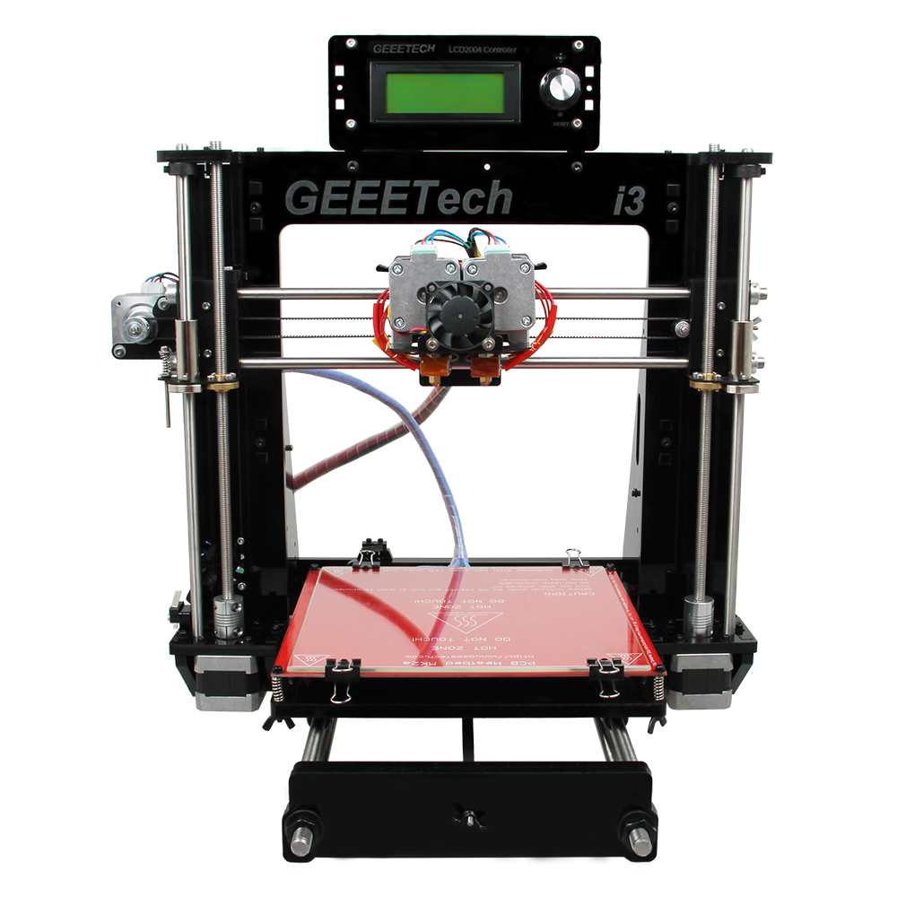 Dual Extruder Double Heads Reprap Prusa I3 3D Printer Two-Color Printing High Resolution Impressora LCD(China (Mainland))