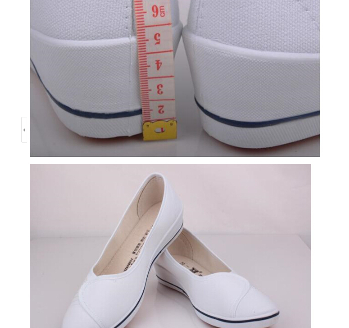 2015 cotton-made female nurse shoes white canvas black-and-white wedges breathable Casual sneakers size 34~40 - Led Shoes store